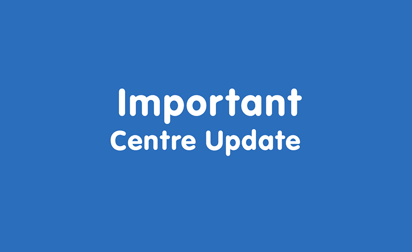 Important centre update 844 x 517